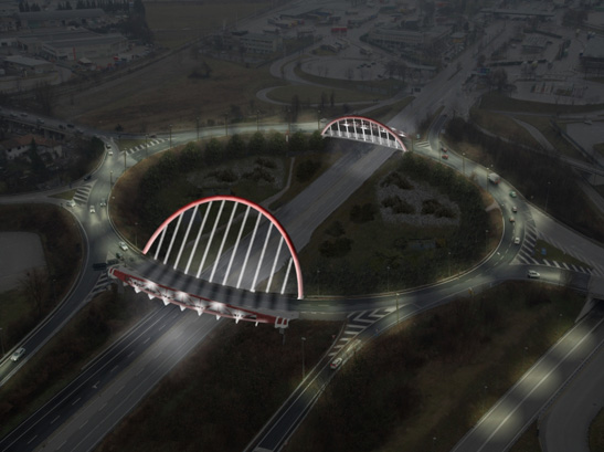 Roundabout on Gorizia junction: Op.31 and Op.33 (rendering)